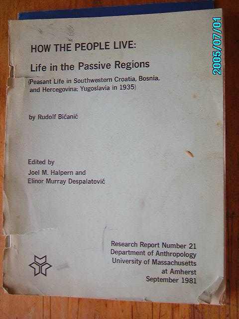 zobrazit detail knihy Bicanic, Rudolf: How the People Live Life in the P