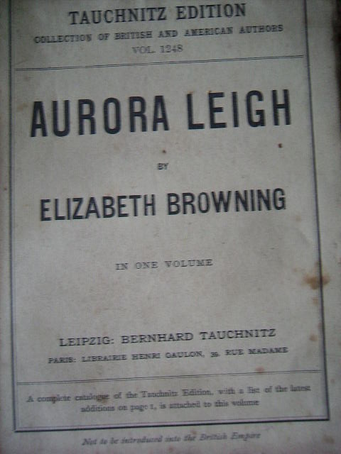 zobrazit detail knihy Browning: Aurora Leigh